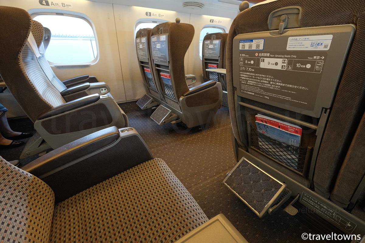 N700系のグリーン車座席